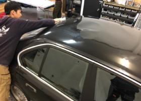 BMWルーフラッピング施工 施工写真